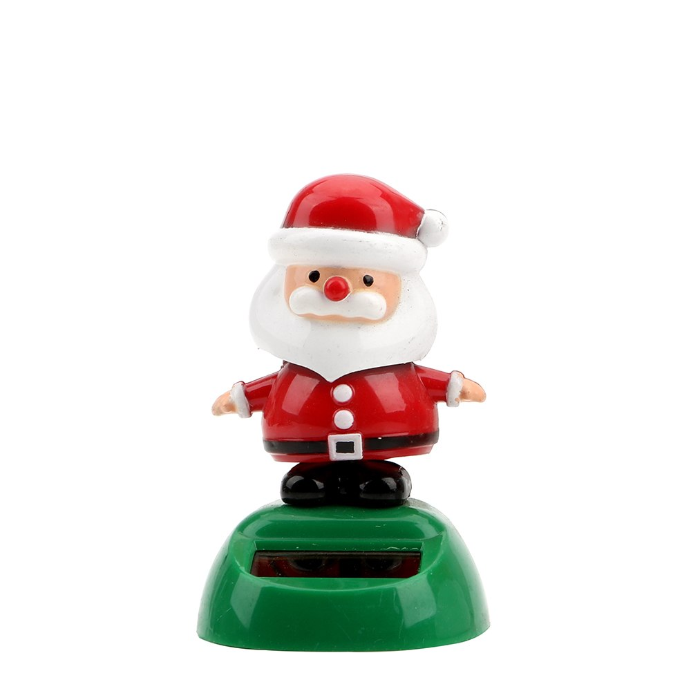 Costbuys  Christmas Style Solar Powered Dancing Toy Swinging Santa Claus Car Ornament Auto Accessories Dashboard Decoration - A