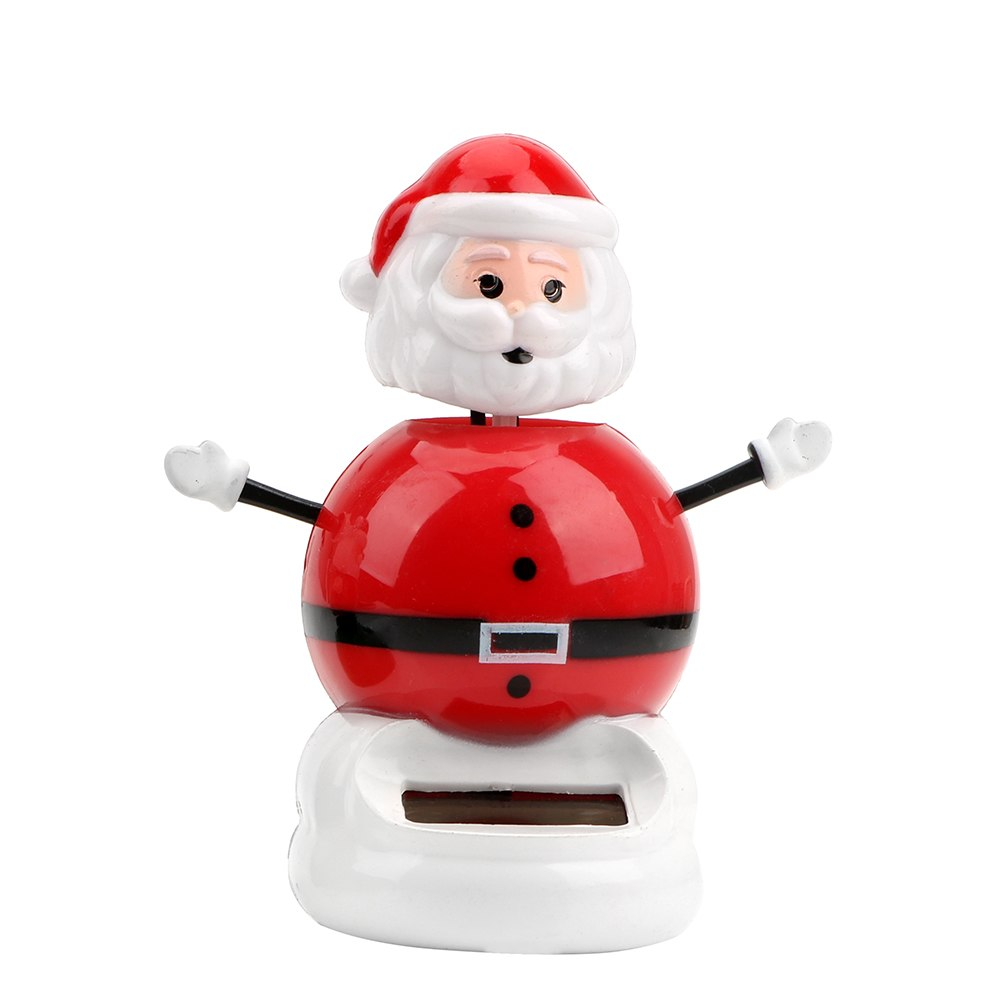 Costbuys  Christmas Style Solar Powered Dancing Toy Swinging Santa Claus Car Ornament Auto Accessories Dashboard Decoration - D