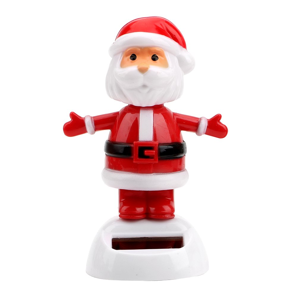 Costbuys  Christmas Style Solar Powered Dancing Toy Swinging Santa Claus Car Ornament Auto Accessories Dashboard Decoration - F