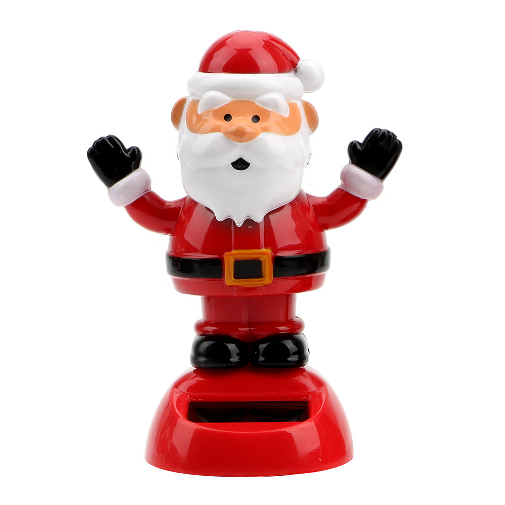Costbuys  Christmas Style Solar Powered Dancing Toy Swinging Santa Claus Car Ornament Auto Accessories Dashboard Decoration - B