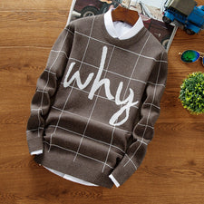 Christmas Sweater Men  Hip Hop Letter Printed Sweaters Male Casual Pullovers High Quality Warm Men's Knitted Sweaters
