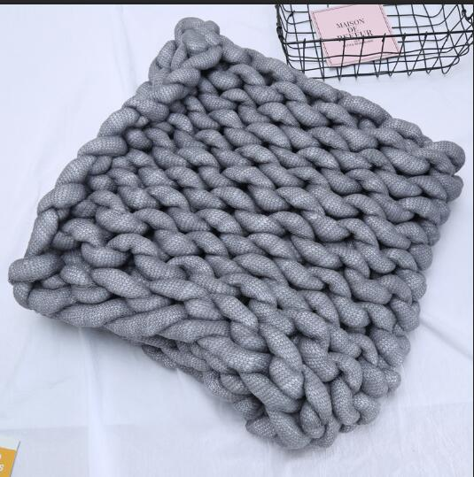 Chunky Wool Blanket Large Size Knit Blanket Giant Throw