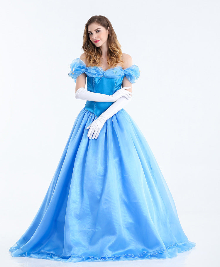 Costbuys  Princess costume adult princess dress halloween costumes for women fantasy women cosplay costume women - XL / Cinderel