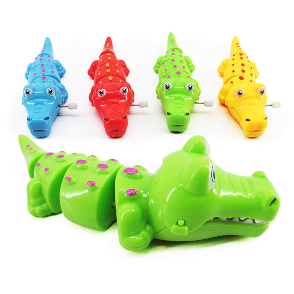 Colorful Lovely Plastic Crocodile Shape Clockwork Wind Up Toy For Children Kids Happy Great Classic Gifts Toys