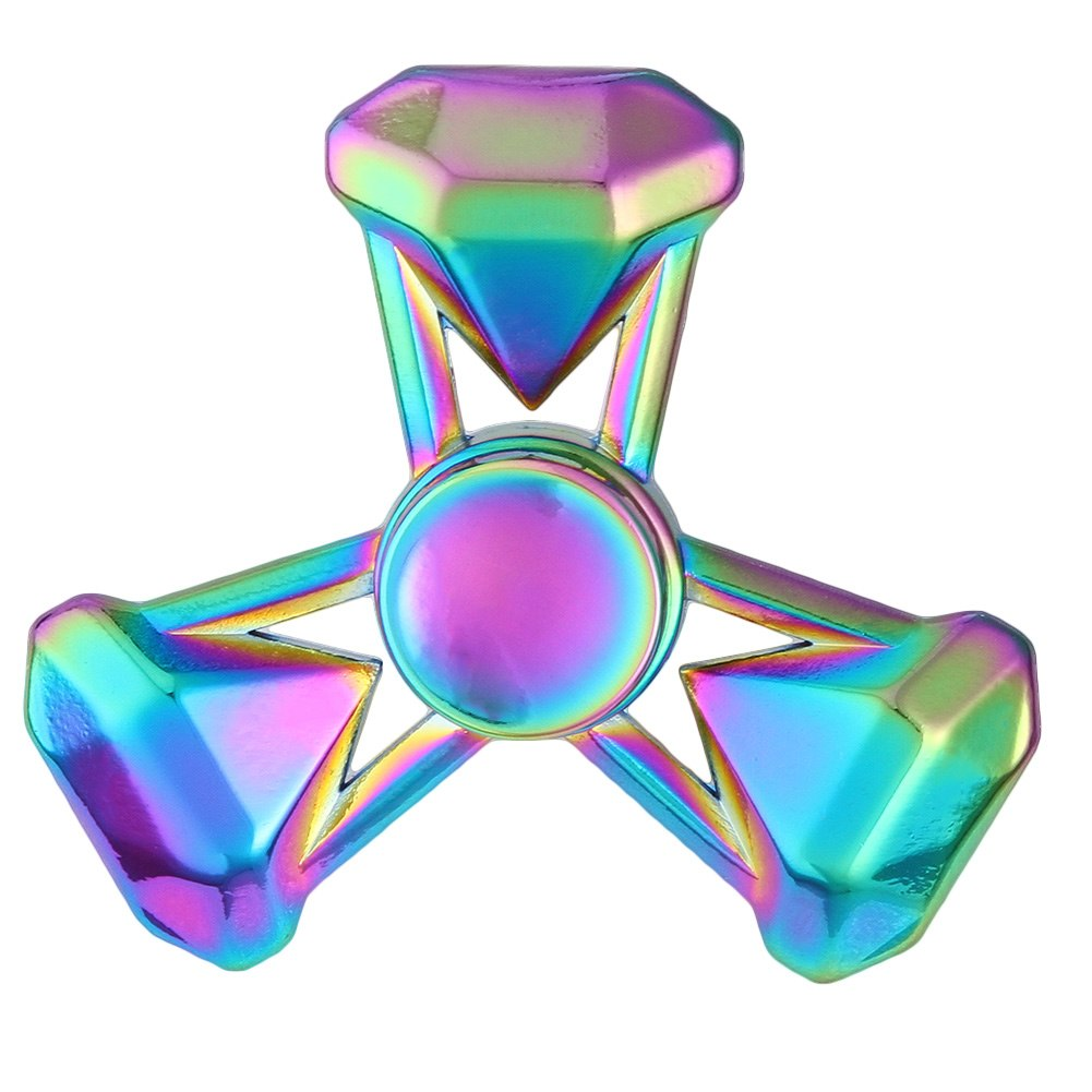 Costbuys  Colorful Toys Rainbow Color Series Metal Alloy For Childen And Adult Stress Relief Toy Fidget Spinner - RB