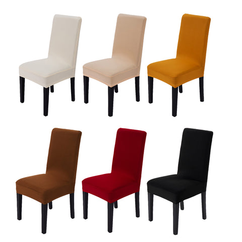Solid Color Spandex Polyester Stretch Dining Room Chair Cover Minimalism  Universal Seat Covers Durable Decor Chair Case