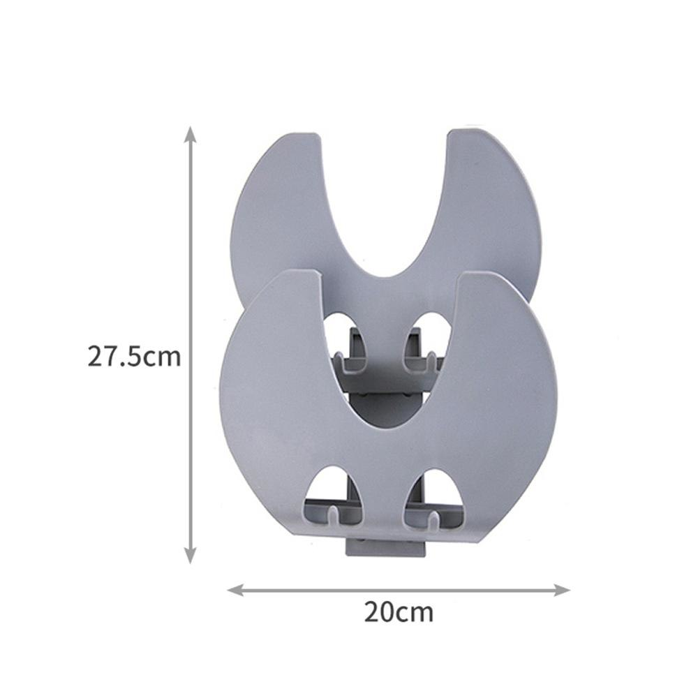 Costbuys  Cooking Tool Plastic kitchen accessories Pot Pan Cover Shell Cover Sucker Tool Bracket Storage Holder Rack Multifuncti