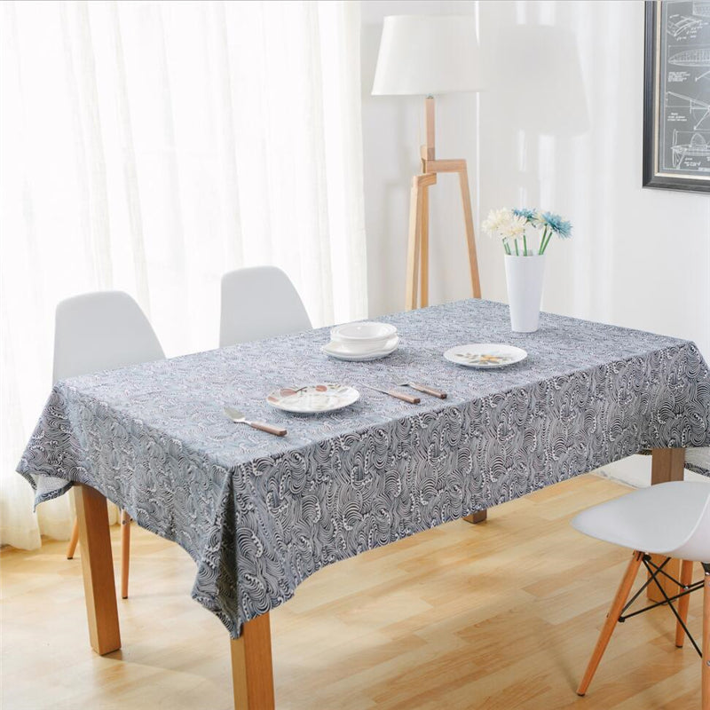 Costbuys  Cotton Linen Fabric Tableclothes For Rectangular Tables 10 Sizes Table Cloth For Table Decor Microwave Oven Cover For