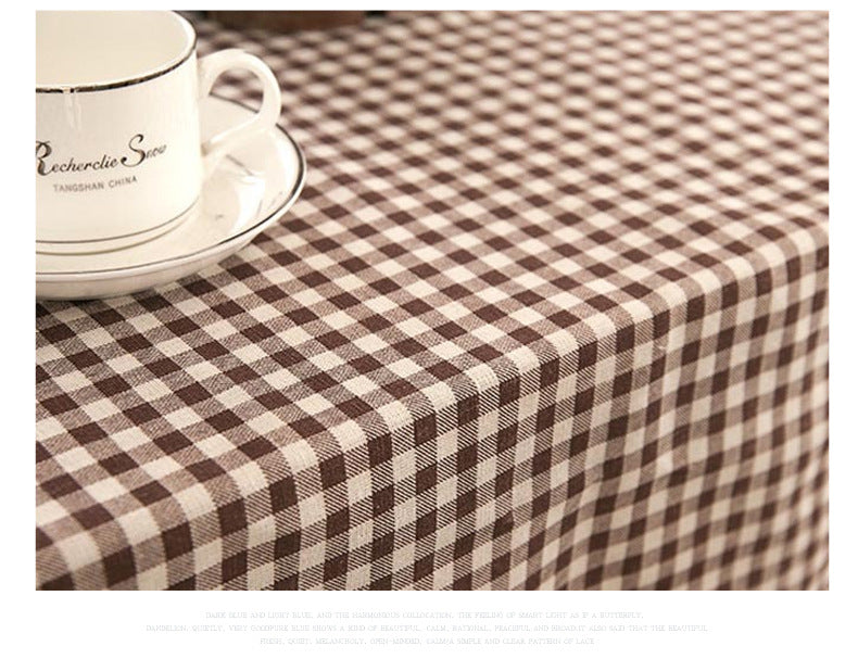 Costbuys  Cotton Linen Table Cloth Lace Palid Lattice Table Cover Patoral Tablecloth Home Hotel Party Table Decoration Home Text