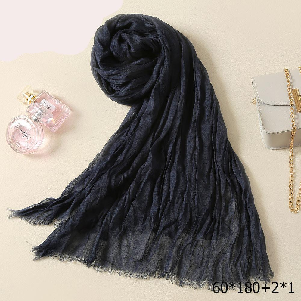 Cotton Long Women Man Scarf Male Luxury Femme Wool Tube Neck L Crinkle  Scarf Men