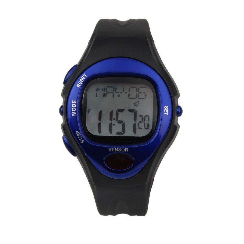 Costbuys  Creative Fashion Waterproof Digital LCD Pulse Heart Rate Monitor Calories Counte Digital Watches relogio masculino - B