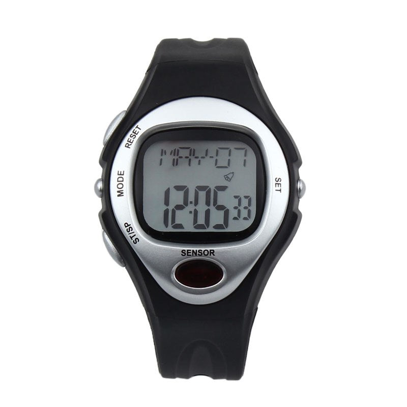 Costbuys  Creative Fashion Waterproof Digital LCD Pulse Heart Rate Monitor Calories Counte Digital Watches relogio masculino - S