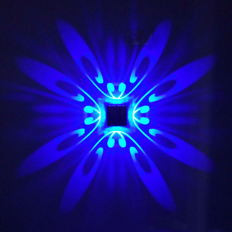 Costbuys  LED Wall Light 1W 3W AC85-265V Butterfly Modern Light Fixture Luminous Lighting Sconce indoor Wall Decoration - Blue /