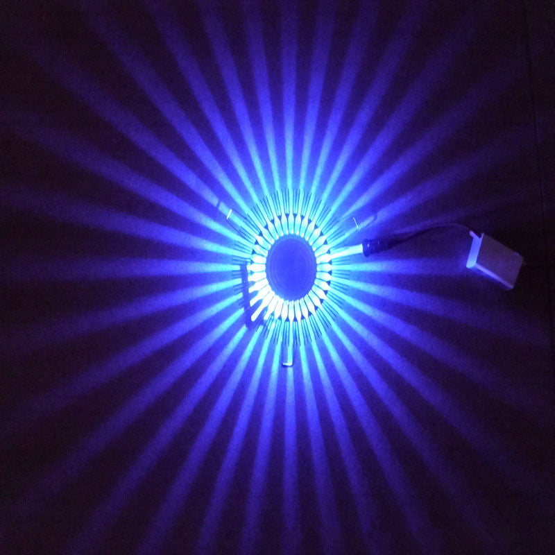 Costbuys  LED wall lamp colorful wall lamp modern lamp luminous lighting wall lamp sunflower AC85-265V indoor wall decoration -
