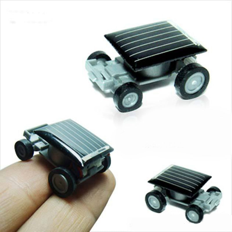 Costbuys  Creative Mini Solar Powered Car Model Sunlight Toys Kit Gadgets Educational Baby Kids Toy for Children Strange Black N