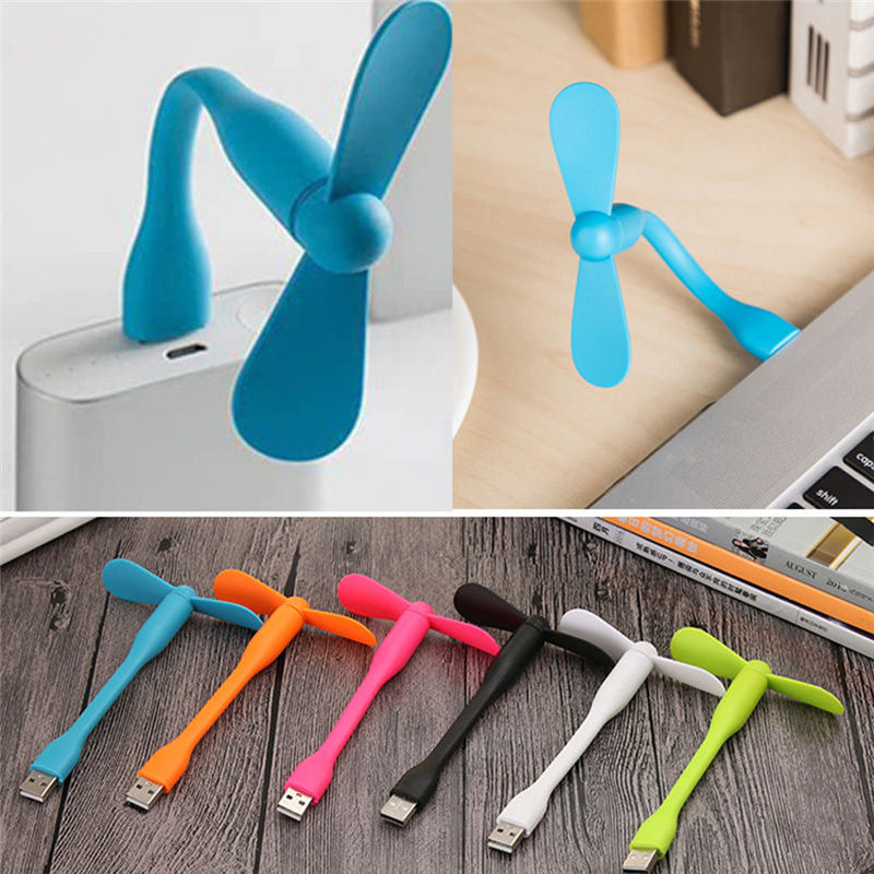 Costbuys  Creative USB Fan Flexible Portable Removable USB Mini Colorful Fan For All Power Supply USB Output USB Gadgets