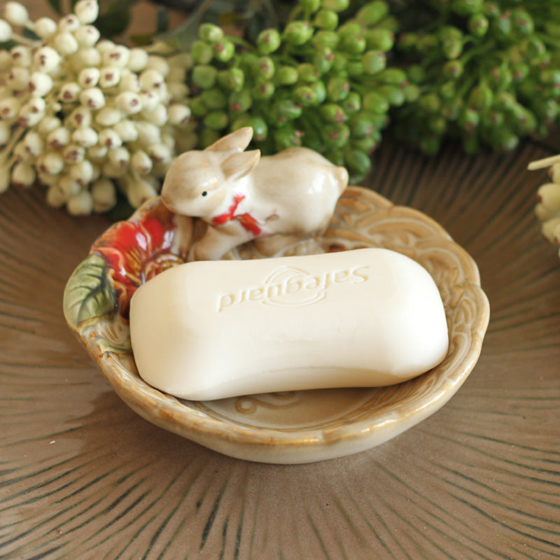 Costbuys  Creative home decorations Bathroom ceramic rabbit Soap dish ceramic ornaments home accents