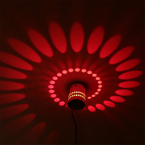 Costbuys  LED wall lamp RGB modern light fixture luminous lighting sconce 3W AC85-265V indoor Wall decoration light KTV party -