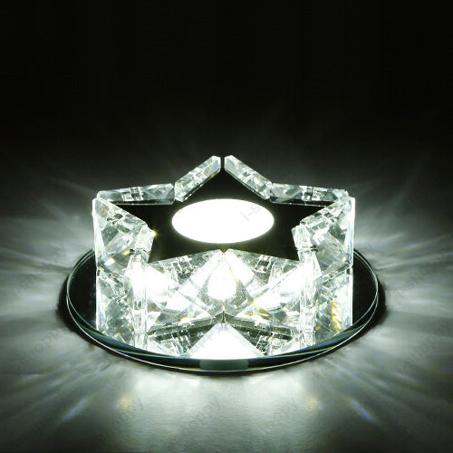 Costbuys  Crystal 3W LED Ceiling Light SMD 5730 Star Lamp Fixture Indoor Porch Living Room Bedroom Surface Mounted - 3W Pure Whi