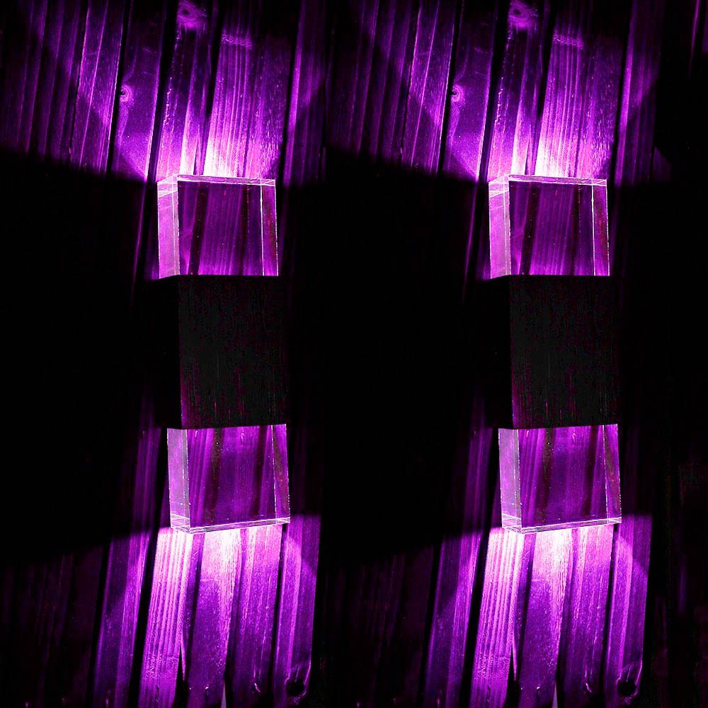 Costbuys  LED wall lamp AC 90-260V scone 3W 2LEDs wall mounted lamp wall for bedroom Foyer decoration indoor lighting - Purple