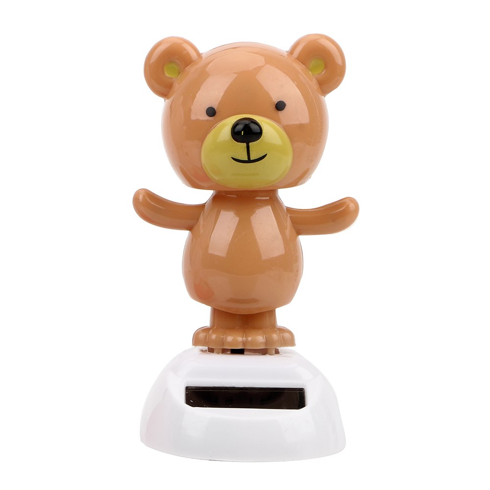 Costbuys  Cute Bear Dancing Toy Car Ornament Solar Powered Dashboard Decoration Swinging Bobble Doll Toy Interior Accessories Ca