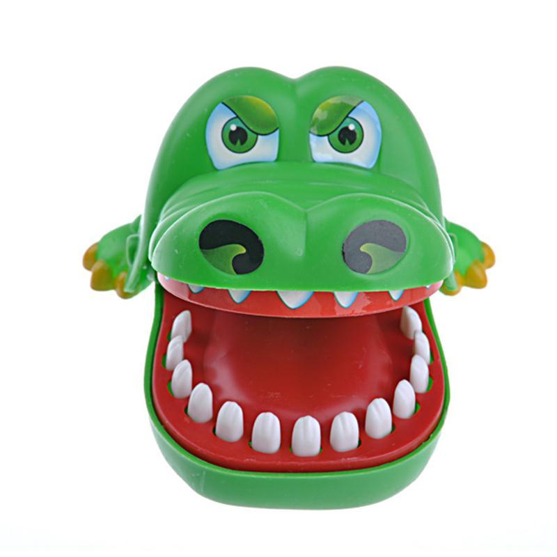 Costbuys  Cute Crocodile Shark Mouth Dentist Bite Finger Game Funny Novelty Gag Toy for Kids Children Play Funny Toy - Green