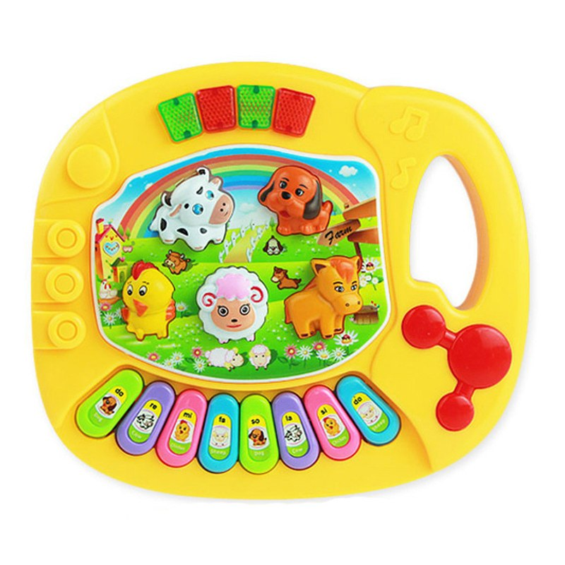 Costbuys  Cutely Baby Kids Musical Educational Animal Farm Piano Developmental Music Toy Great Learning Instrument Tools Drop Sh