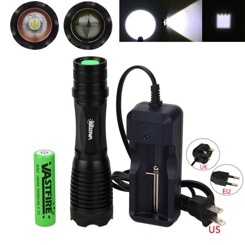 Costbuys  Cycling LED Light Torch 5000LM  XM-L T6 LED Bike Front Lamp Flashlight with Battery and Charger for Outdoor Camping Hu