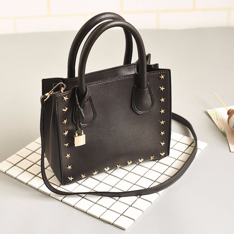 Costbuys  PU Leather Women Shoulder Bags Fashion Top-Handle Women Bag Female Designer Handbags High Quality Bolsos Mujer - Black