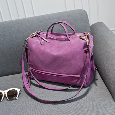 Costbuys  Women Bag PU Leather Fashion Crossbody Bags for Girls Famous Handbags Top-Handle Bag Female Shoulder Bags - Rose red