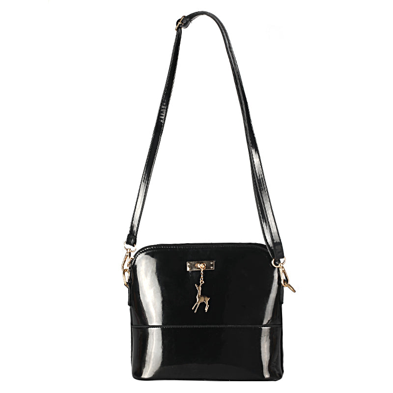 Costbuys  new female bags patent leather bag female shoulder bag Messenger bag quilted shell package pendant cute deer Crossbody