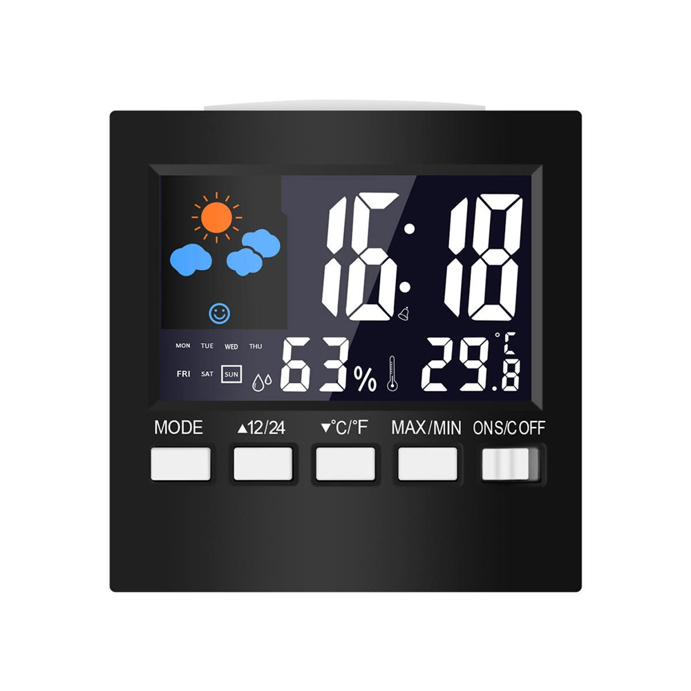 Costbuys  DC-001 Smart Home Digital Temperature Humidity Alarm Clocks LCD Weather Station Display Calendar Timer Smart Home Elec