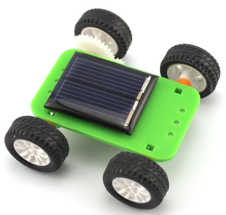 Costbuys  DIY Solar Toys Pane Solar Power -driven Vehicles Small Car Model Accessories Toys Physics Experiment Equipment for Kid