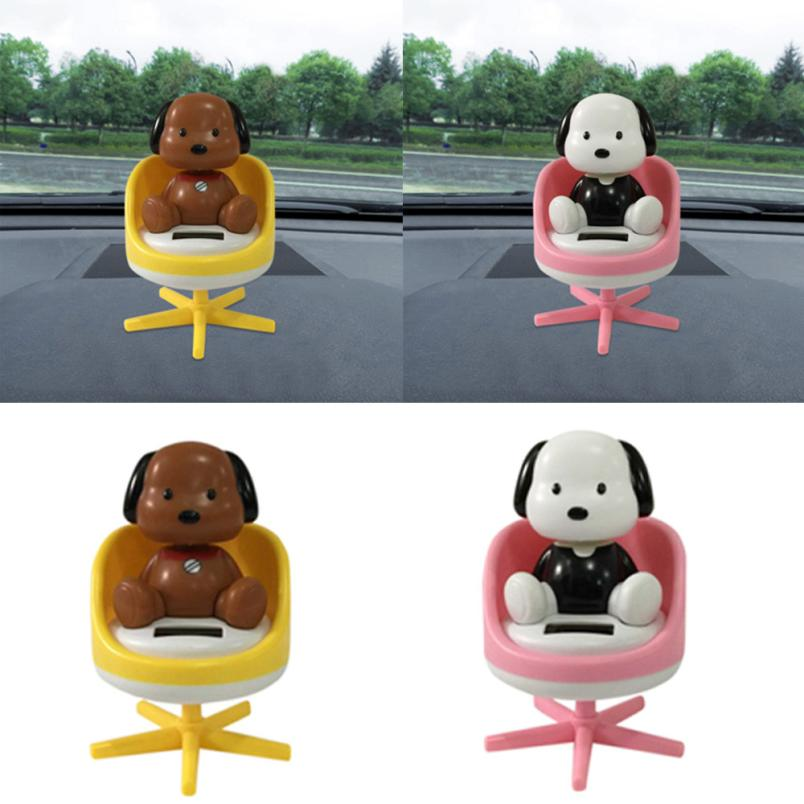 Costbuys  DOG Solar Dancing Toy Car Decoration Solar Powered Dancing Sofa Animal Swinging Animated Bobble Dancer Toy Car Decor Z