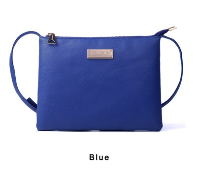 Costbuys  famous brand luxury PU leather retro 5 colors top brand new arrvials korean designer summer shoulder bag - blue / mini