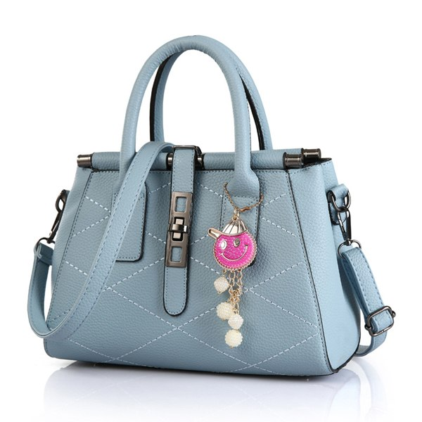 Costbuys  Designer Fashion Women Handbags PU Leather High Quality Solid Pattern Large Capacity Tote Top-handle Bags Shoulder Bag