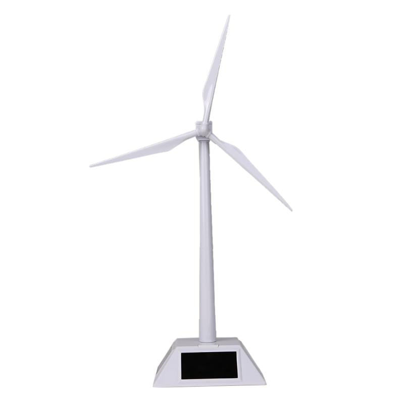 Costbuys  Desktop Solar Powered Windmills Model Wind Turbine Easy Assembled Solar Powered ABS Plastic Windmill Educational Toy G