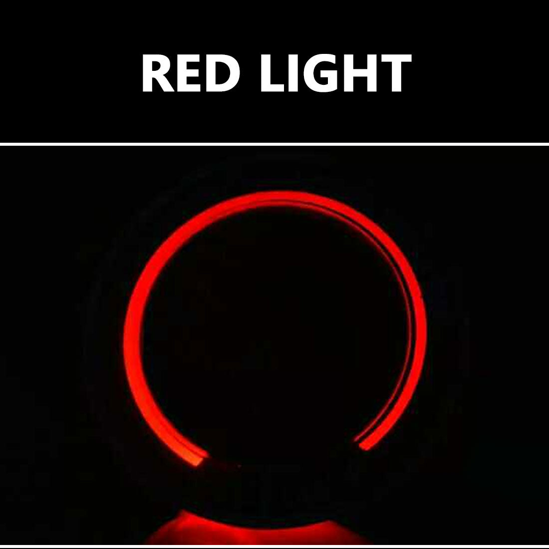 Costbuys  Car ignition key ring led lighting stickers for for auto accessories For Ford Focus 2 Focus 3 Kuga Mondeo - red light
