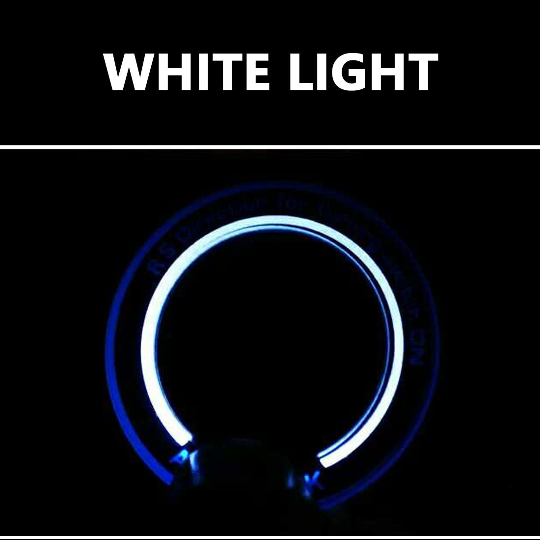 Costbuys  Car ignition key ring led lighting stickers for for auto accessories For Ford Focus 2 Focus 3 Kuga Mondeo - white ligh