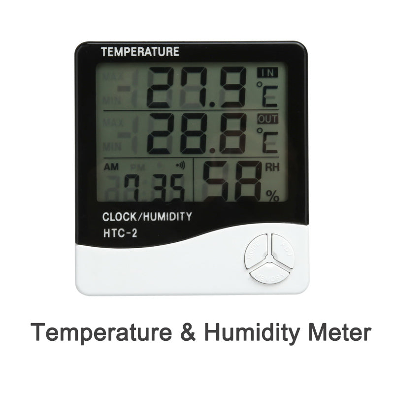 Costbuys  Digital LCD Electronic Temperature & Humidity Sensor, Smart Home Weather Station Indoor Outdoor Tester Within Time&Ala