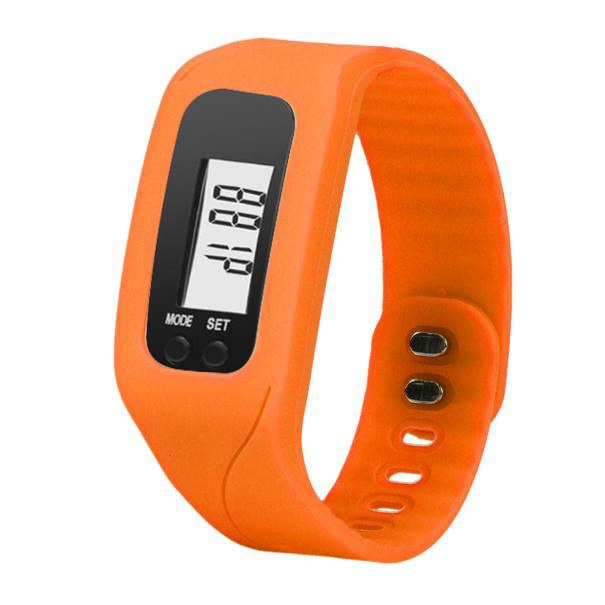 Costbuys  Digital LCD Wrist Watch For Men Women Pedometer Stop Watches Sports Wristband Run Step Distance Calorie Counter - Oran
