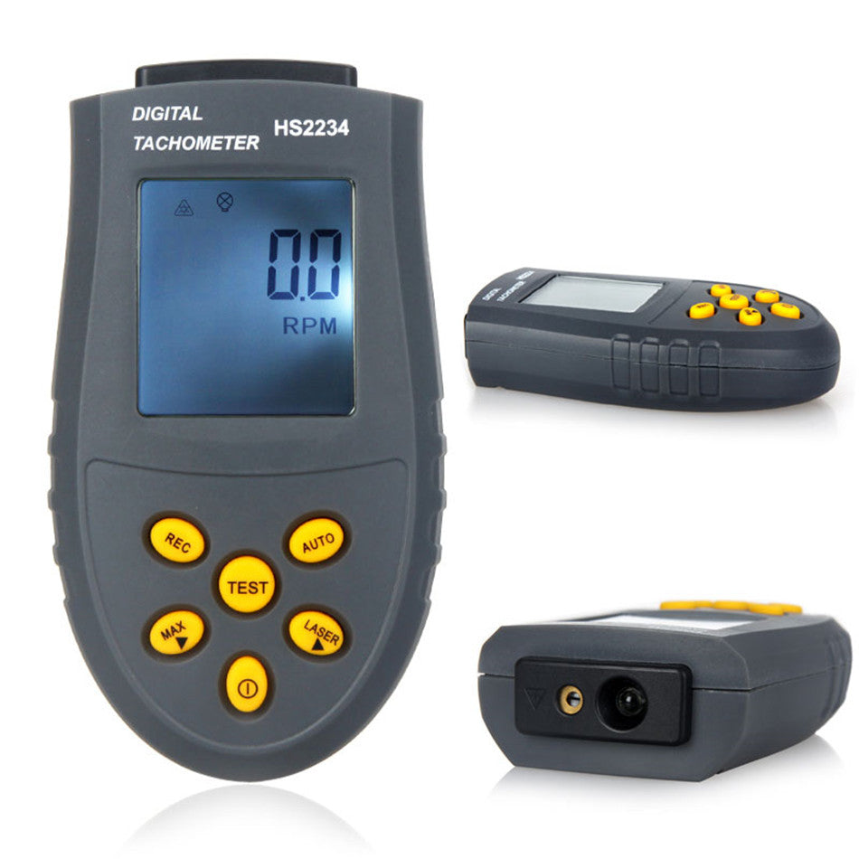 Costbuys  Digital Tachometer Engine Speed Tester Laser Photo Tachometer Non Contact Speed Meter HS2234 (No Battery)