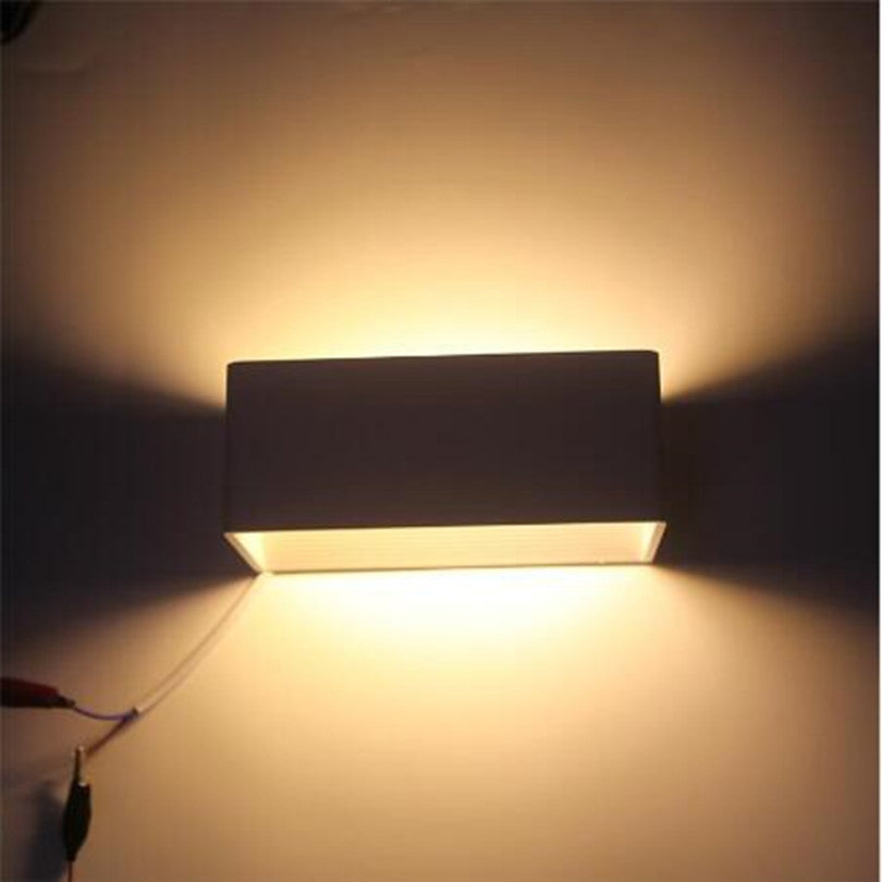 Costbuys  Dimmable LED Wall Lamp 10W 15W 20W Surface Mounted Decoration Lighting for Living Room Bedroom Aluminum Wall Light AC8
