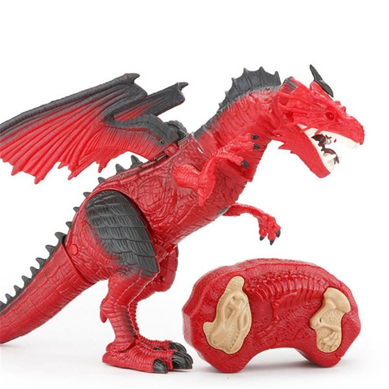 Costbuys  Dinosaur toy for kid Tyrannosaurus Rex Remote Control Dinosaur for boy best  gift for boy girl children - Red