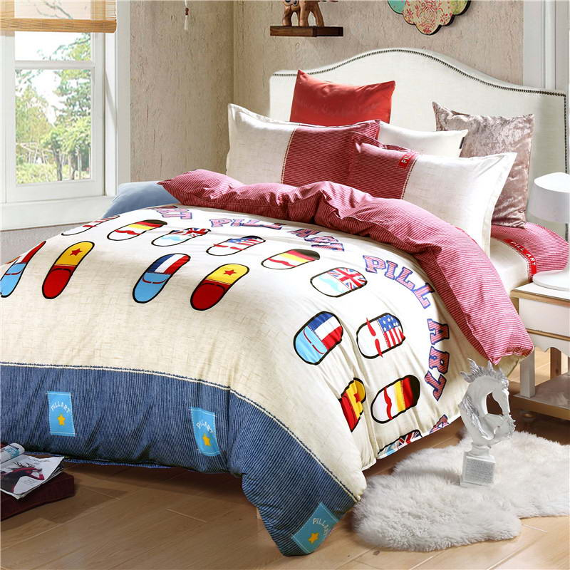 Costbuys  Discount bedding, winter super warm bedding set, duvet cover / bed sheet / pillowcase, king size, 4pcs - Multi / Full