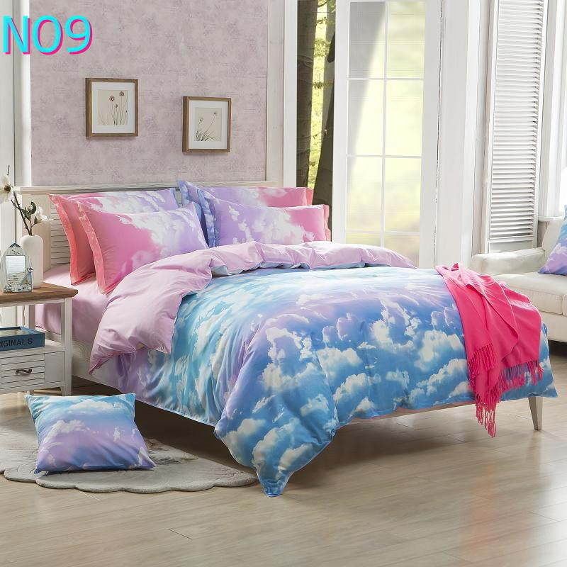Costbuys  Discount bedding, winter super warm bedding set, duvet cover / bed sheet / pillowcase, king size, 4pcs - Purple / Full