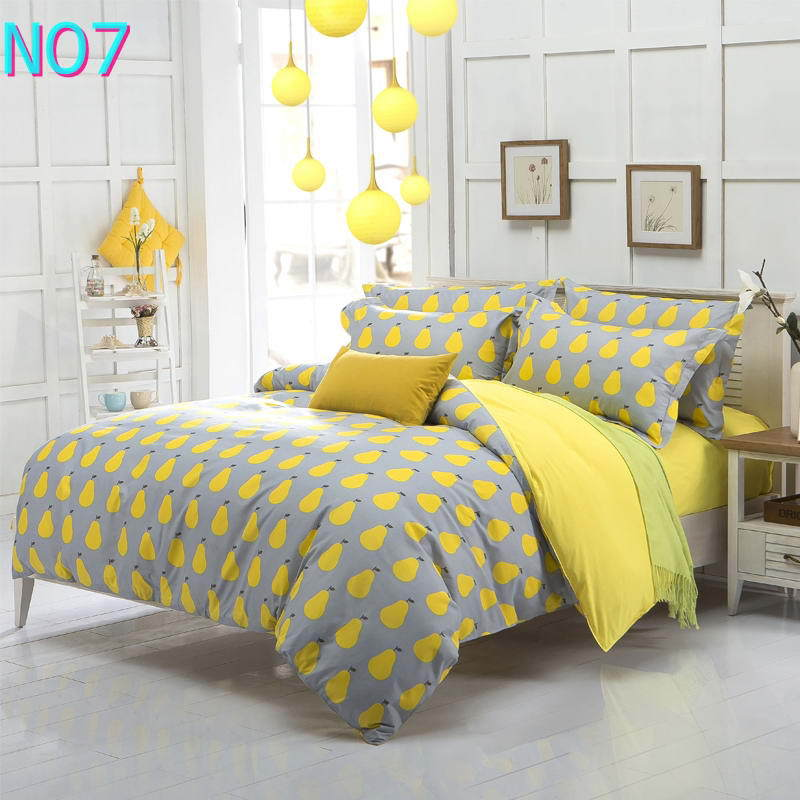 Costbuys  Discount bedding, winter super warm bedding set, duvet cover / bed sheet / pillowcase, king size, 4pcs - Yellow / Full