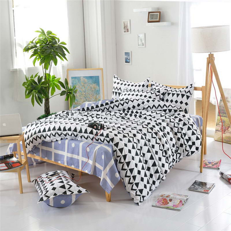 Costbuys  Discount bedding, winter super warm bedding set, duvet cover / bed sheet / pillowcase, king size, 4pcs - Black / Full