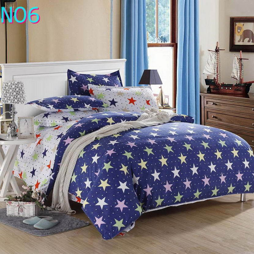 Costbuys  Discount bedding, winter super warm bedding set, duvet cover / bed sheet / pillowcase, king size, 4pcs - Blue / Full