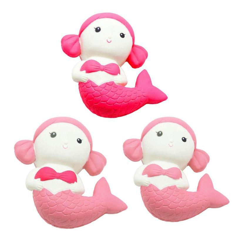 Costbuys  Squishy PU Mermaid Doll Squishy Slow Rising Sweet Scented Bread Squeeze Stress Relief Toys Gadgets Anti Stress Toys -
